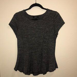 BCX Peplum Grey Shirt